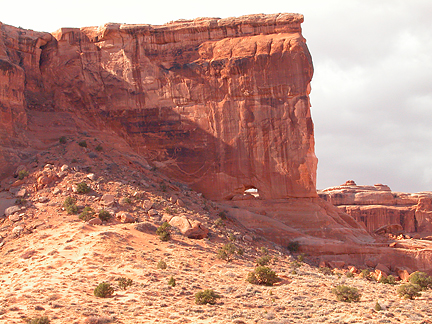 Baby Arch, Courthouse Towers, Arches National Park, Utah
