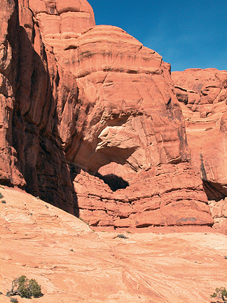 Cove Arch, The Windows Section, Arches National Park, Utah