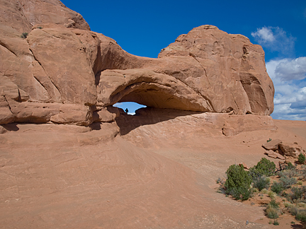 Eye of the Whale Arch, Herdina Park, Arches National Park, Utah