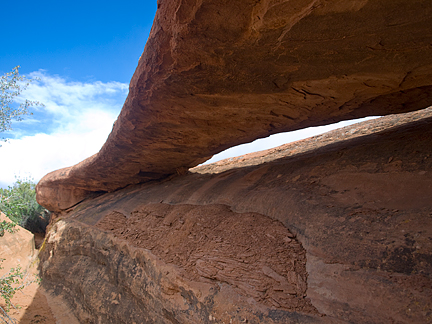Slanted Eye Arch, Herdina Park, Arches National Park, Utah
