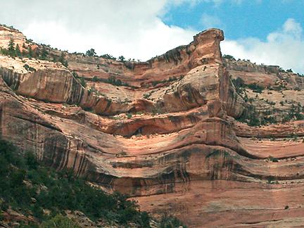Arch Canyon Rim Arch 04, Arch Canyon, San Juan County, Utah