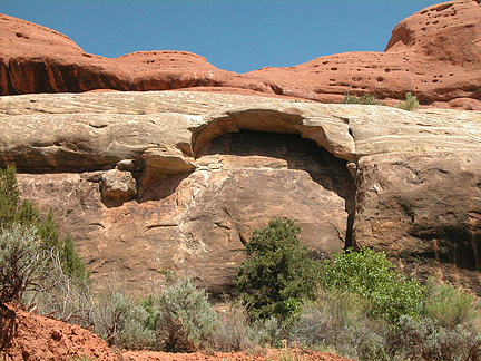 Acorn Arch, Horse Canyon, Needles District, Canyonlands National Park, Utah