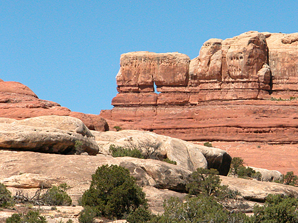 Anchor Arch, Horse Canyon, Needles District, Canyonlands National Park, Utah