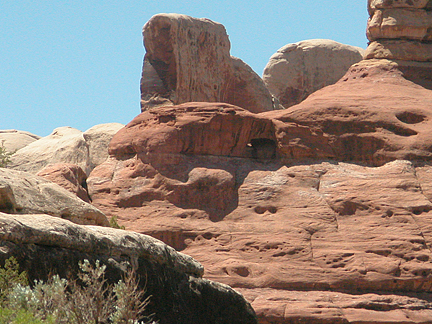 Double Side Arch, Horse Canyon, Needles District, Canyonlands National Park, Utah