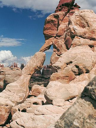 Horsehoof Arch, Butler Flat, Canyonlands National Park, Utah