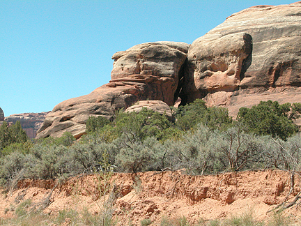 Laid Back Arch, Horse Canyon, Needles District, Canyonlands National Park, Utah