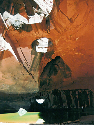 Golden Cathedral Bridges, Neon Canyon, Glen Canyon National Recreation Area, Utah