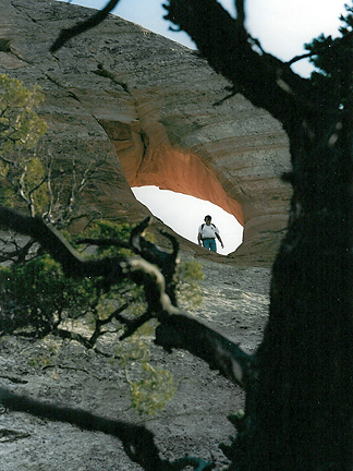 Millard Canyon Arch, Millard Canyon, Wayne County, Utah