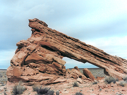 Rocket Arch, North of Fortymile Gulch, Grand Staircase-Escalante National Monument, Utah