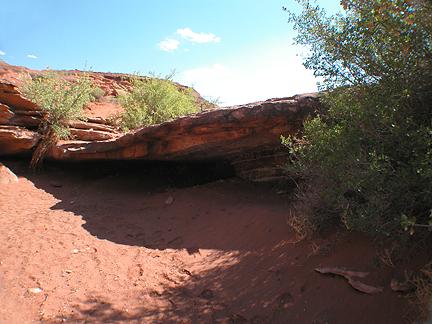 Clogged Bridge, Shafer Basin near Moab, Utah