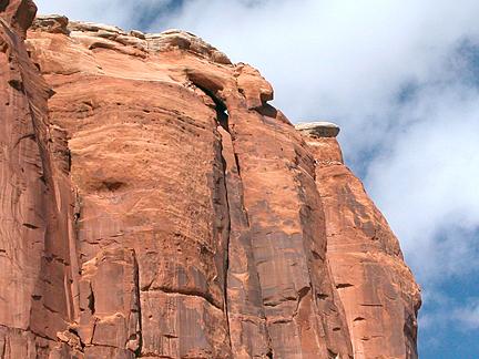 Dog Leg Arch, Dry Fork Bull Canyon near Moab, Utah