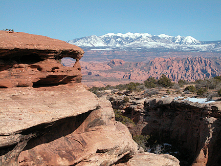 Fang Arch, North of Long Canyon near Moab, Utah