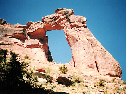 Hunter Canyon Arch, Hunter Canyon near Moab, Utah