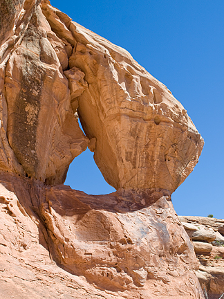 Jingle Bell Arch, Little Canyon near Moab, Utah