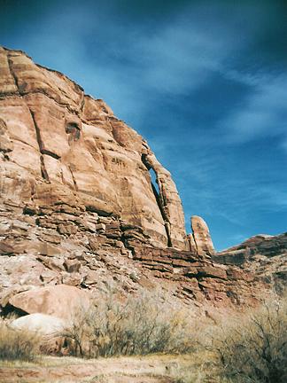 Jughandle Arch, Long Canyon near Moab, Utah