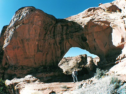 Lin-Lynn Arch, Northeast of Arths Pasture near Moab, Utah
