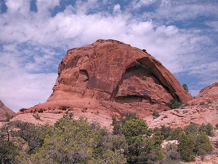 Moab Rim Arch, Behind the Rocks near Moab, Utah