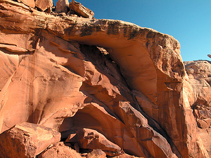 Neighbor Arch, Spring Canyon Point near Moab, Utah