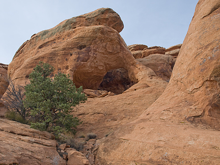 Reclusive Arch, Cache Valley, near Moab, Utah