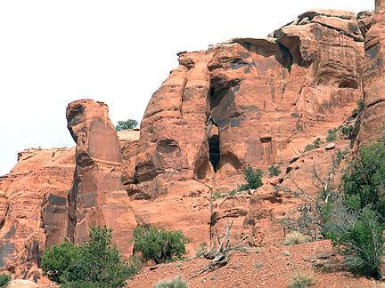Steer Arch, West Fork Bull Canyon near Moab, Utah