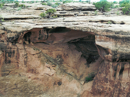 Terrace Arch Inner, North of Long Canyon near Moab, Utah
