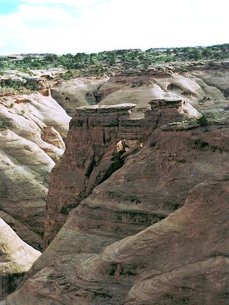 Trigon Arch, North of Long Canyon near Moab, Utah