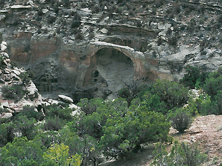 Aqueduct Arch, Harts Draw, San Juan County, Utah