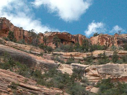 Arch Canyon Rim Arch 01, Arch Canyon, San Juan County, Utah