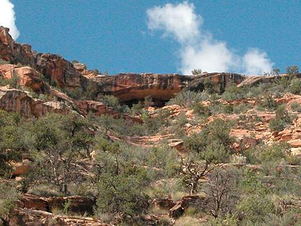 Arch Canyon Rim Arch 02, Arch Canyon, San Juan County, Utah