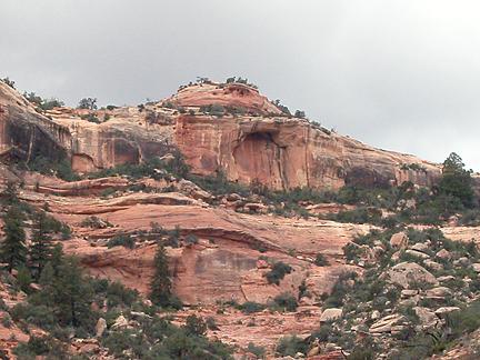 Arch Canyon Rim Arch 03, Arch Canyon, San Juan County, Utah