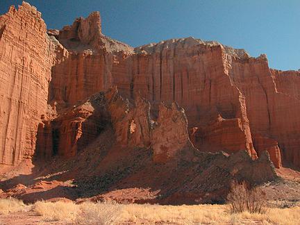 Black Dike Arch, Salt Wash, Wayne County, Utah