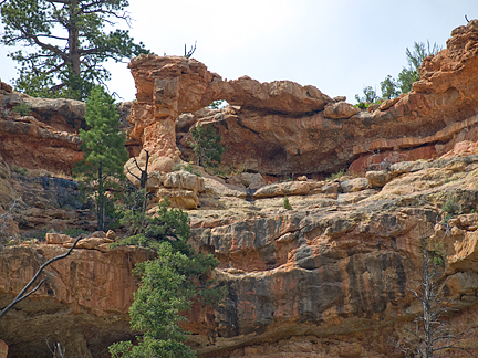 Casto Canyon Arch 5, Casto Canyon, Dixie National Forest, Garfield County, Utah