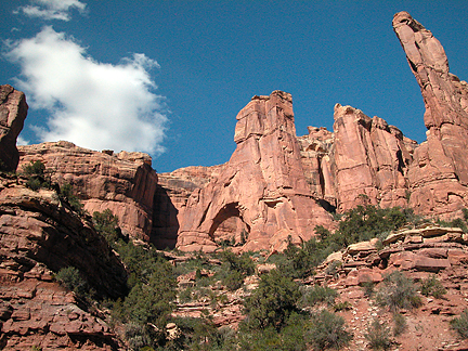 Cathedral Arch, Arch Canyon, San Juan County, Utah