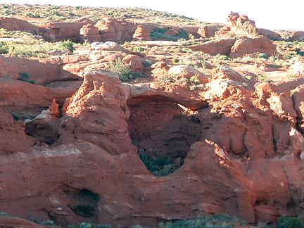 Crumble Canyon North Arch, Crumble Canyon, Wayne County, Utah