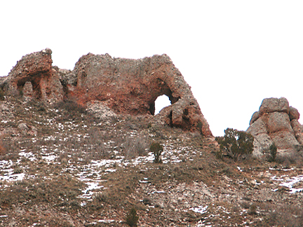 Devils Looking Glass Arch, Weber Canyon, Morgan County, Utah