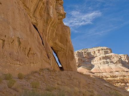 Frying Pan Handle Arch, Last Chance Wash, Emery County, Utah