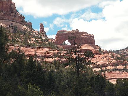 Keystone Arch, Arch Canyon, San Juan County, Utah