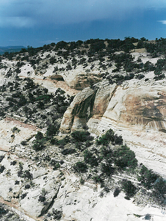 Mughandle Arch, Harts Point, San Juan County, Utah