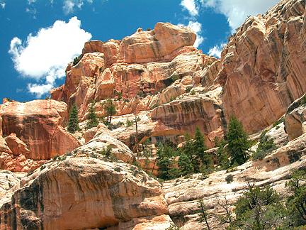 Queens Arch, Peavine Canyon, San Juan County, Utah