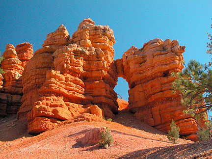 Red Canyon Arch, Red Canyon, Garfield County, Utah