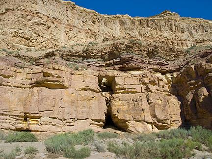 Shelf Hole Arch, Last Chance Wash, Wayne County, Utah