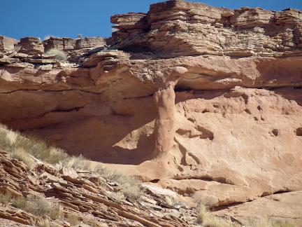 Shelf Support Arch, Leprechaun Canyon, Hwy 95, Garfield Country, Utah