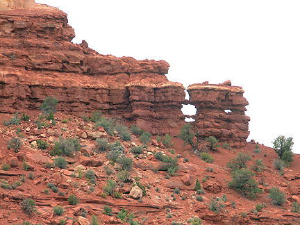 Shortcut Arches, Fortknocker Canyon, San Juan County, Utah