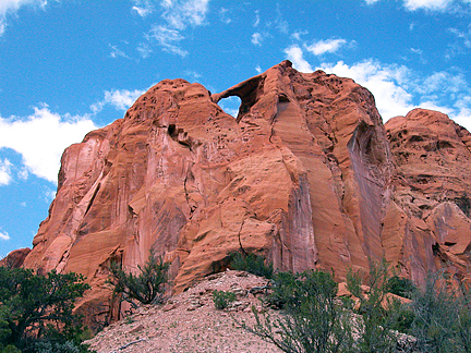 Valentine Arch, Oak Creek, Garfield County, Utah