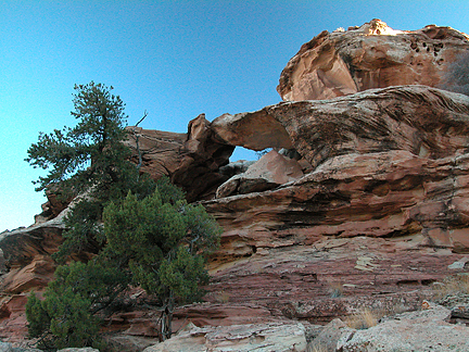 Bent Arch, Ernie Canyon, San Rafael Swell, Emery County, Utah