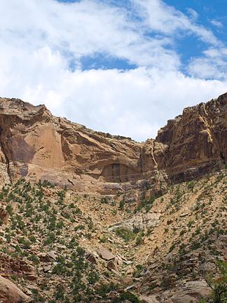 Calf Canyon Arch, Prickly Pear Flat, San Rafael Swell, Emery County, Utah