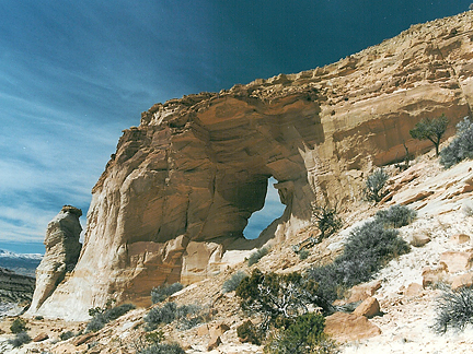 Horizon Arch, Poor Canyon, San Rafael Swell, Emery County, Utah