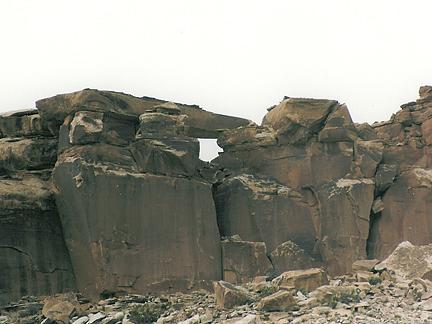 Iron Wash Arch, Iron Wash, San Rafael Swell, Emery County, Utah