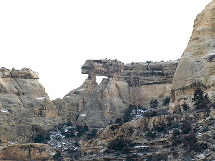 Propped Up Arch, Saddle Horse Canyon, San Rafael Swell, Emery County, Utah