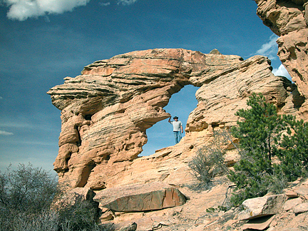 Sky High Arch, Big Hole Wash, San Rafael Swell, Emery County, Utah